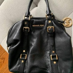 Michael Kors Black Leather Purse Bag